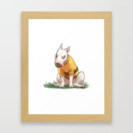 Mad dog in bumble bee sweater  Framed Art Print