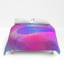pink and blue waves -2- Comforters