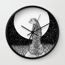 Cheetah Moon Wall Clock