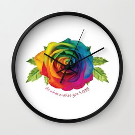 Do What Makes You Happy Wall Clock