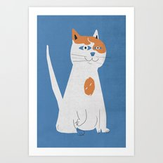 Sam the cat Art Print