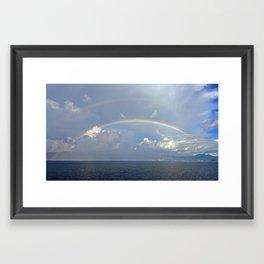 Double Rainbow 2 Framed Art Print