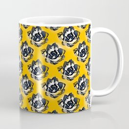 Floral pattern on yellow Coffee Mug