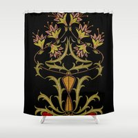 art nouveau Shower Curtains featuring art nouveau by Ariadne