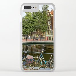 Canal Crossing - Amsterdam Souvenir Clear iPhone Case