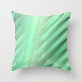 abstract lightgreen Throw Pillow
