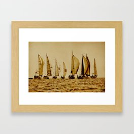 start of sailrace Framed Art Print