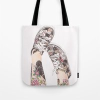 shoes Tote Bags featuring Shoes by Carlos ARL