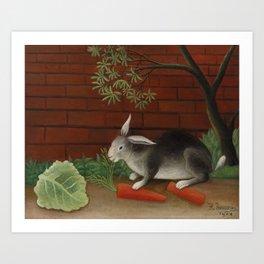 The Rabbit's Meal (Le Repas du lapin) (1908) by Henri Rousseau. Art Print