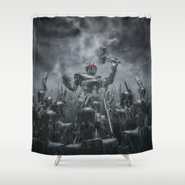 Once More Unto The Breach Shower Curtain
