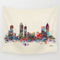 georgia Wall Tapestries featuring Atlanta Georgia  by bri.buckley