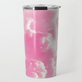 Retro cotton candy clouds Travel Mug