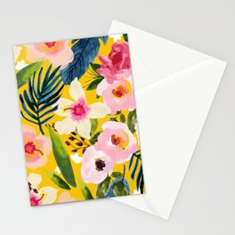 No Winter Lasts Forever; No Spring Skips It's Turn #painting #botanical Stationery Cards