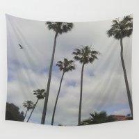 san diego Wall Tapestries featuring San Diego Palm Trees by VivianaSavir