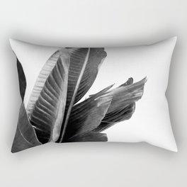 Bird of Paradise Plant Black and White 02 Rectangular Pillow