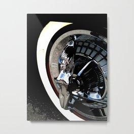 Hotrod hubcap Metal Print