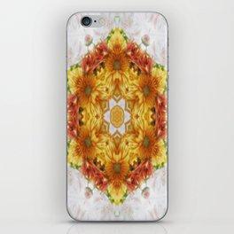 Gold Chrysanthemum Kaleidoscope Art 2 iPhone Skin
