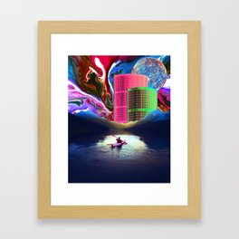 """""""Follow the Lights, They Lead to Something"""" Framed Art Print"""