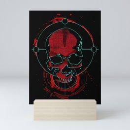 Skull red Mini Art Print