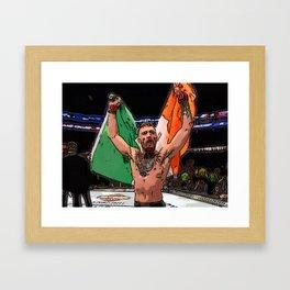 FAN ART Conor McGregor UFC CHAMP Framed Art Print