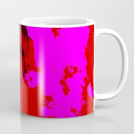 Ichisayo - Abstract Colorful Pink Red Camouflage Tie-Dye Style Pattern Coffee Mug