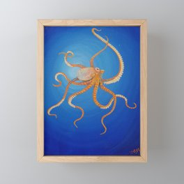 Octopus, Oil Painting by Faye Framed Mini Art Print