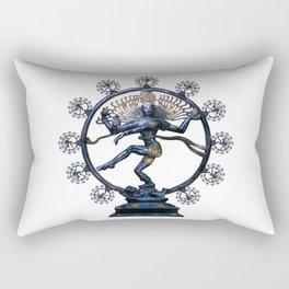 Shiva Nataraj, Lord of Dance (an actual factual fractal) Rectangular Pillow