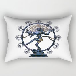 Shiva Nataraj, Lord of Dance (an actual factual fractal) Rectangular Pillow