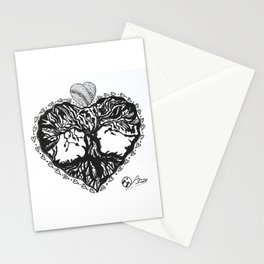 """""""The Tree of Hearts"""" Hand-Drawn by Dark Mountain Stationery Cards"""