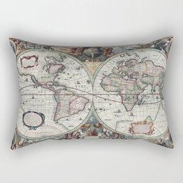 Ancient world map 0 Rectangular Pillow