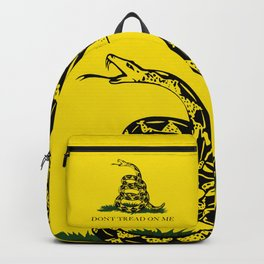 """Gadsden """"Don't Tread On Me"""" Flag, High Quality image Backpack"""