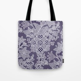 Lilies. Seamless Pattern. Lace. Tote Bag