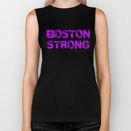 Support BOSTON STRONG Purple Grunge Biker Tank