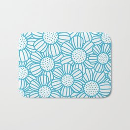 Field of daisies - teal Bath Mat