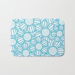 Field of daisies - teal Bath Mat