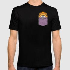 Pocket Lion LARGE Black Mens Fitted Tee