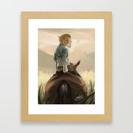 Sunset Zelda Framed Art Print