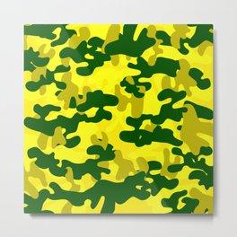 Camouflage (Yellow) Metal Print