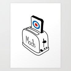 Mods Toaster Art Print