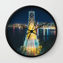 Treasure Island view of the Bay Bridge - San Francisco, CA Wall Clock