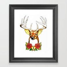 Oh deer. Framed Art Print