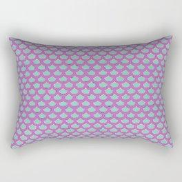 Mermaid Scales Violet Rectangular Pillow