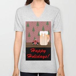 Drunken Holidays! Unisex V-Neck