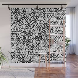 Mid-Century Modern Social Network Wall Mural