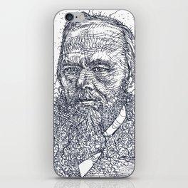 FYODOR DOSTOYEVSKY - ink portrait iPhone Skin