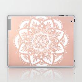 Flower Mandala on Rose Gold Laptop & iPad Skin