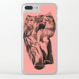 Jeans on pink Clear iPhone Case