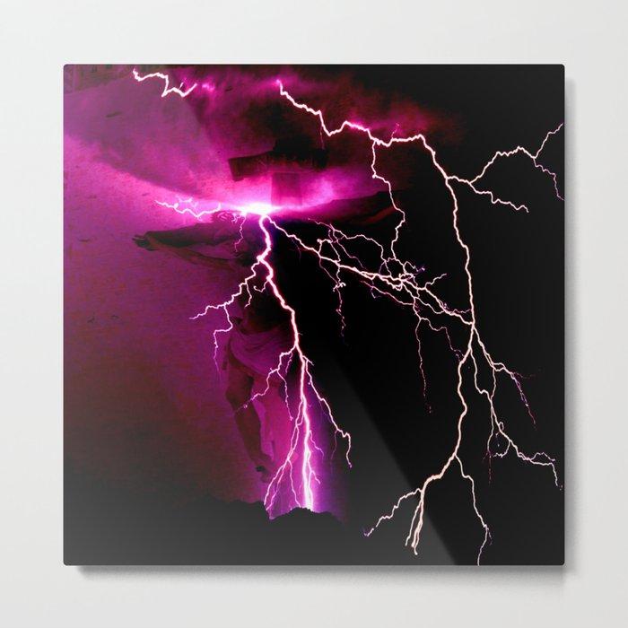 Jesus Christ in the storm Metal Print