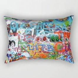 grafitti wall Rectangular Pillow