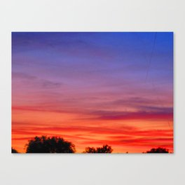 The Skies are on fire Canvas Print
